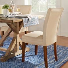 Shop for TRIBECCA HOME Parson Classic Upholstered Dining Chair (Set of 2). Get free shipping at Overstock.com - Your Online Furniture Outlet Store! Get 5% in rewards with Club O!