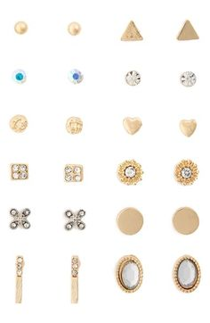Carole Set of 12 Stud Earrings available at #Nordstrom