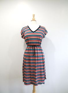 1970s Sweater Dress Vintage 70s Striped Day Dress by RedsThreadsVintage, $36.00