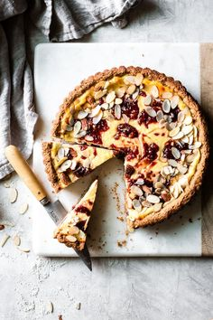 Almond Crostata With Ricotta & Jam {gluten-free}