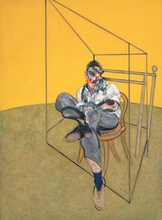 "This is one of three Bacons that sold today for record auction price ""Three Studies of Lucian Freud"" by Francis Bacon."