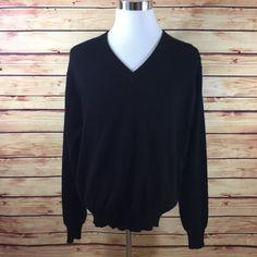 NEW Woods & Gray 100% Cashmere Sweater Mens XL Black V-Neck Long Sleeve  | eBay