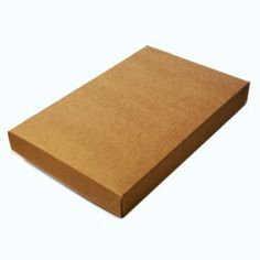 "2 Piece Set-up A2/5.5 Bar Natural Kraft Stationery Boxes (5 7/8 x 4 1/2 x 3/4"")"