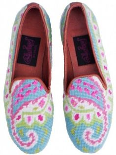 Pink Preppy Paisley loafers...love these!!
