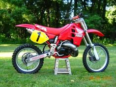 A Honda CR-500R, suicidal power with looks, this bike scared me half to death as a kid, and I have always wanted to own one.