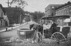 Mill Street in #WappingersFalls, NY. #DutchessCounty #HudsonValley #nostalgia #horse #carriage #village