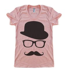 Womens Mustache Hat Wayfarer T Shirt  American by lastearth, $19.00