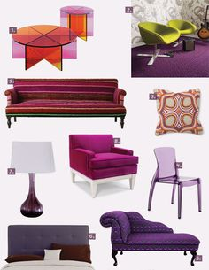 Passionate About Purple: Furniture & Accessories