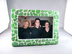 Genuine Sea Glass Mosaic Picture Frames beach glass by susanlshaw, $40.00