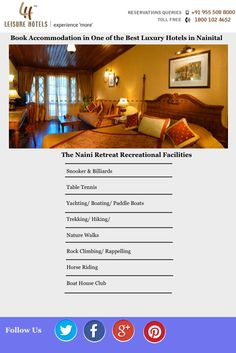 Book Accommodation in One of the Best Luxury Hotels in Nainital