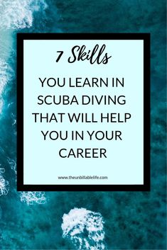 Scuba diving isn& just for fun & you learn things like patience, communication, stress management and even math. All of these skills (and more) are extremely helpful when you are at your job or running your own business, too. In this post, I Hobbies To Try, Hobbies For Men, Job Burnout, Career Exploration, Quitting Your Job, Career Coach, Career Change, Career Development, Stress Management
