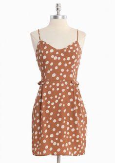 Pretty Woman Polka Dot Dress / Ruche