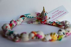 Teething Necklace / Fabric Necklace / Nursing by Saravadesigns, $12.00