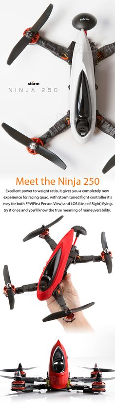 STORM Racing Drone (RTF / Ninja 250) www.helipal.com/...