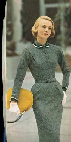 Ideas For Moda Vintage Outfits Beautiful Vintage Fashion 1950s, Fifties Fashion, Vintage Couture, Retro Fashion, Trendy Fashion, 1950s Mens Fashion Suits, Style Fashion, 1950s Fashion Women, Club Fashion