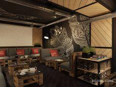 Industrial Bars & Clubs Bilder in Schwarz von Мастерская дизайна Welcome Studio