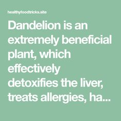 Dandelion is an extremely beneficial plant, which effectively detoxifies the liver, treats allergies, has diuretic properties, lowers cholesterol, stimulates the formation of bile, and is extremely useful for pregnant and postmenopausal women. The ideal time for picking dandelion is the beginning of April, and you should find it in places which are not much polluted,…