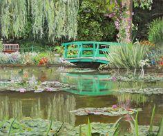 Monet Garden Oil Painting Tomasz Mrowiński Ogród wodny Moneta obraz olejny