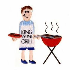 """Dad """"King of the Grill"""" (CD051606KE) Embroidery Design"""