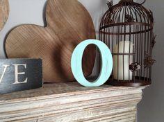 Handpainted Wooden Letter O  Freestanding  by LoveLettersMe, £3.95
