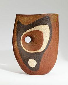 Kåre Berven Fjeldsaa; Painted Ceramic vessel, c1956.