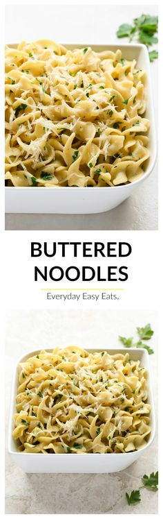 4 ingredients and 15 minutes all you need to make this super-simple recipe for Buttered Noodles. Serve with steak or roast chicken and steamed vegetables.