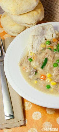 Skinny Slow Cooker Chicken Pot Pie