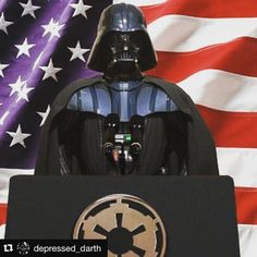Don't vote Clinton or Trump… Vote Vader. (I feel like I just solved a riddle.) #darthvader #vaderkinsella2016 🇺🇸🚀💁🏻