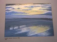 Egnes Skanse Strand, Hals, Denmark by Lone Bruun. #watercolor, #akvarel, #art