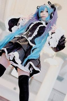 Vocaloid cosplay - Hatsune Miku - Infinite the Holic - Kane Fry Cosplay Vocaloid, Kawaii Cosplay, Cosplay Anime, Hatsune Miku Vocaloid, Asian Cosplay, Epic Cosplay, Amazing Cosplay, Cosplay Girls, Cosplay Costumes