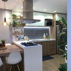 Cozinha americana simples: 70 ideias lindas que vão além do básico Apartment Entryway, Entryway Decor, Galley Kitchens, Bedroom Styles, Living Room Bedroom, Small Spaces, Kitchen Design, Kitchen Ideas, Home Goods