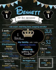 Birthday Poster Birthday Chalkboard by LizzyCakeDesigns on Etsy