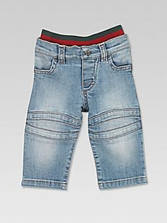 343829b29 Gucci - Infant's Stone Washed Biker Jeans Biker Jeans, Baby Boy Fashion,  Baby Month