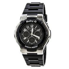 0b87f42917f7 Casio Women s BGA110-1B2 Baby-G Shock Resistant Black Multi-Function Sport  Watch