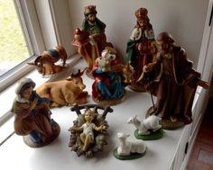 LARGE KURT ADLER NATIVITY SET HOLY FAMILY SET OF 10