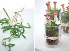joy ever after :: details that make life loveable :: - Journal - weekend craft // toadstool pencils Red Riding Hood Party, Pencil Crafts, Mini Terrarium, Weekend Crafts, Mario Brothers, Plant Pots, Chopsticks, Crafty Projects, Little Red