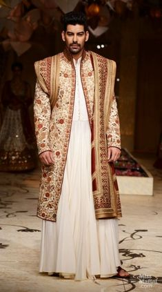 Latest trends in Beauty, Fashion, Indian outfit ideas, Wedding style on your mind? We bring to you hand picked collections for inspiration Sherwani Groom, Wedding Sherwani, Wedding Outfits For Groom, Wedding Suits, Wedding Dress, Indian Men Fashion, Muslim Fashion, Pakistan Fashion, India Fashion
