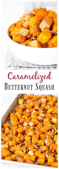 USE VEGAN BUTTER-Irresistibly buttery and sweet, this roasted butternut squash with cinnamon feeds a crowd, which makes it perfect addition to your holiday menu!