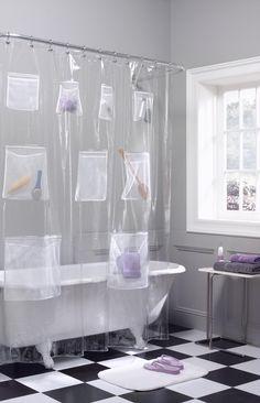 shower curtain liner mesh pockets maytex quality vinyl