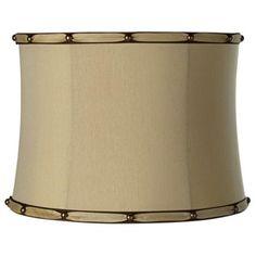 Morell Almond Drum Lamp Shade 14x15x11 (Spider)...ideas for shades...nailhead trim