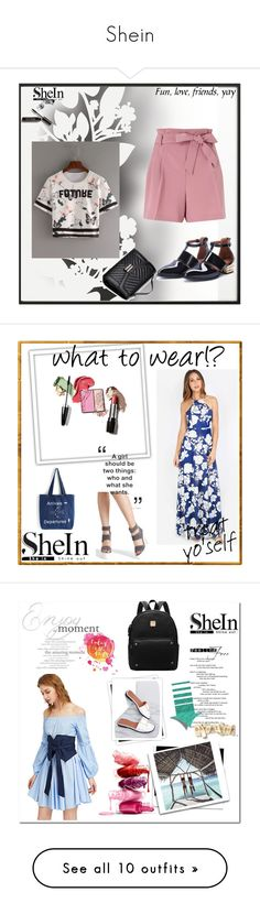 """Shein"" by zerina913 ❤ liked on Polyvore featuring By Lassen, Élitis, Bobbi Brown Cosmetics, shein, GALA, H&M and Pier 1 Imports"