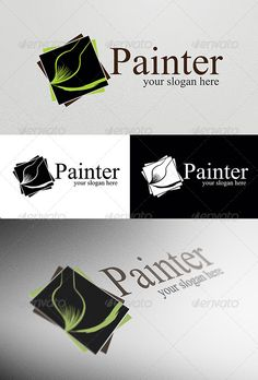 Painter Logo Template: Abstract Logo Design Template created by lincerta. Logo Design Template, Logo Templates, Portfolio Logo, Abstract Logo, Coreldraw, Art Logo, Text Color, Business Logo, Designs To Draw