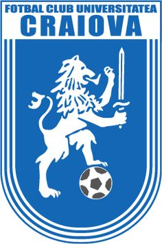 FC Universitatea Craiova, Romania founded 1948 Soccer Logo, Football Team Logos, Football Art, Leeds United, Champions League, Fifa, International Soccer, Team Mascots, Sports Clubs