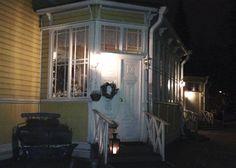 Witikkalan kartano kutsuu tunnelmalliseen kahvihetkeen Jämsän illassa. Marraskuu 2014.