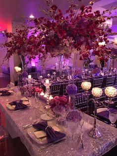 Orchid Centerpieces, Centerpiece Decorations, Reception Decorations, Event Decor, Wedding Centerpieces, Wedding Color Schemes, Wedding Colors, Wedding Flowers, Purple Wedding