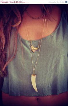 Boho Horn Layering Necklace