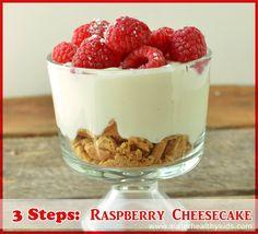 3step raspberry cheese cake