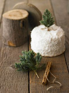 Use greenery or cinnamon sticks for a natural cake topper.