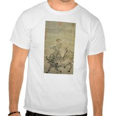 Lao-tzu  riding his ox, Chinese, Ming Dynasty T Shirt, Hoodie Sweatshirt