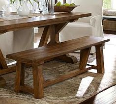 Wooden Benches Indoor  Decorative Benches | Pottery Barn